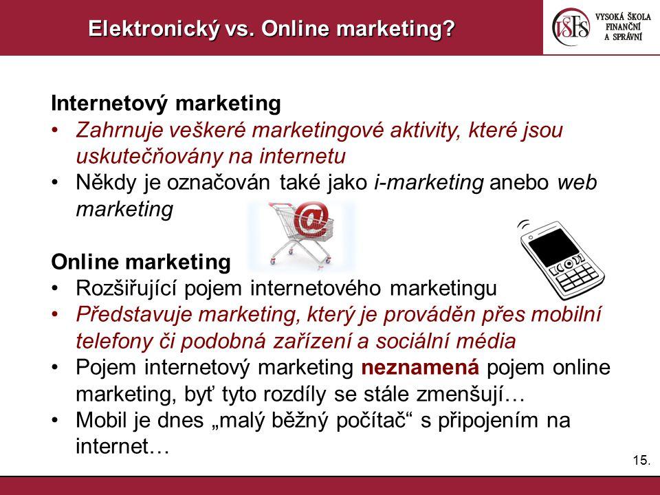 Elektronický vs. Online marketing