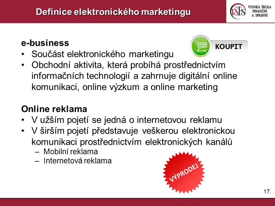 Definice elektronického marketingu