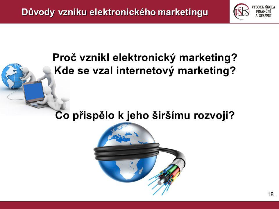Proč vznikl elektronický marketing Kde se vzal internetový marketing