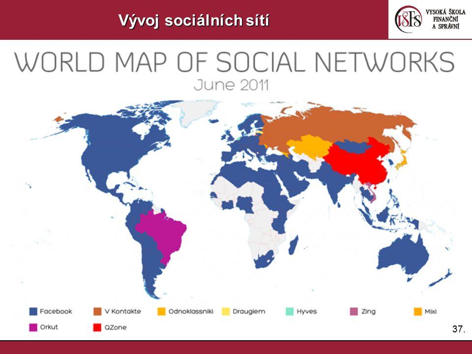 Vývoj sociálních sítí 37.