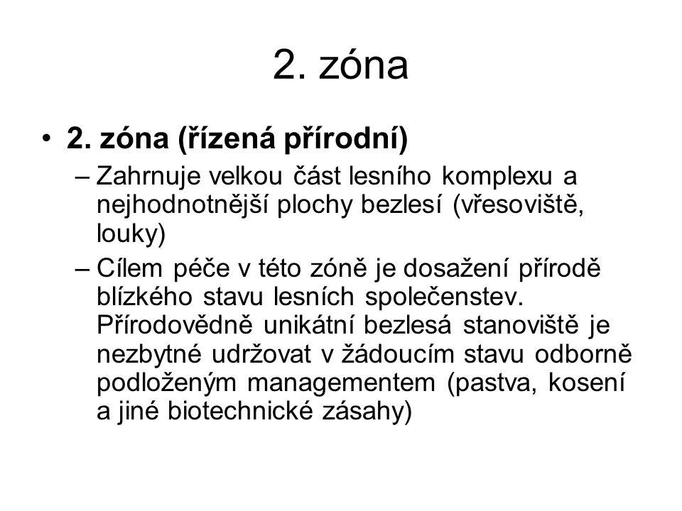 2. zóna 2. zóna (řízená přírodní)