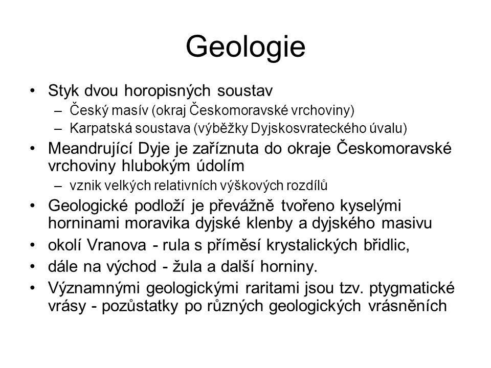 Geologie Styk dvou horopisných soustav