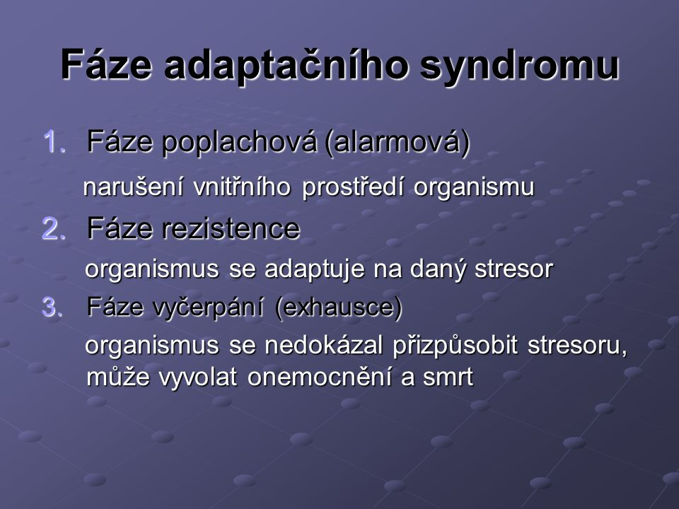 Fáze adaptačního syndromu