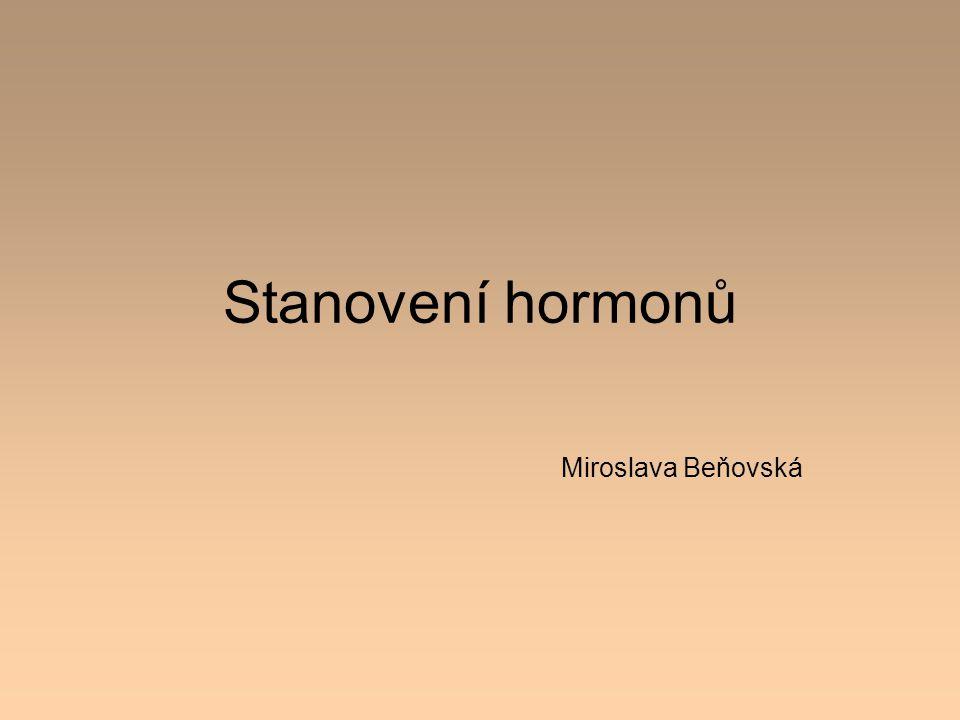 Stanovení hormonů Miroslava Beňovská