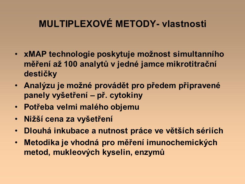 MULTIPLEXOVÉ METODY- vlastnosti