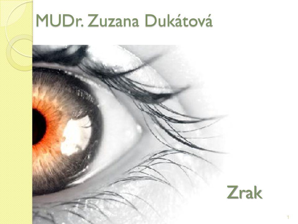 MUDr. Zuzana Dukátová Zrak