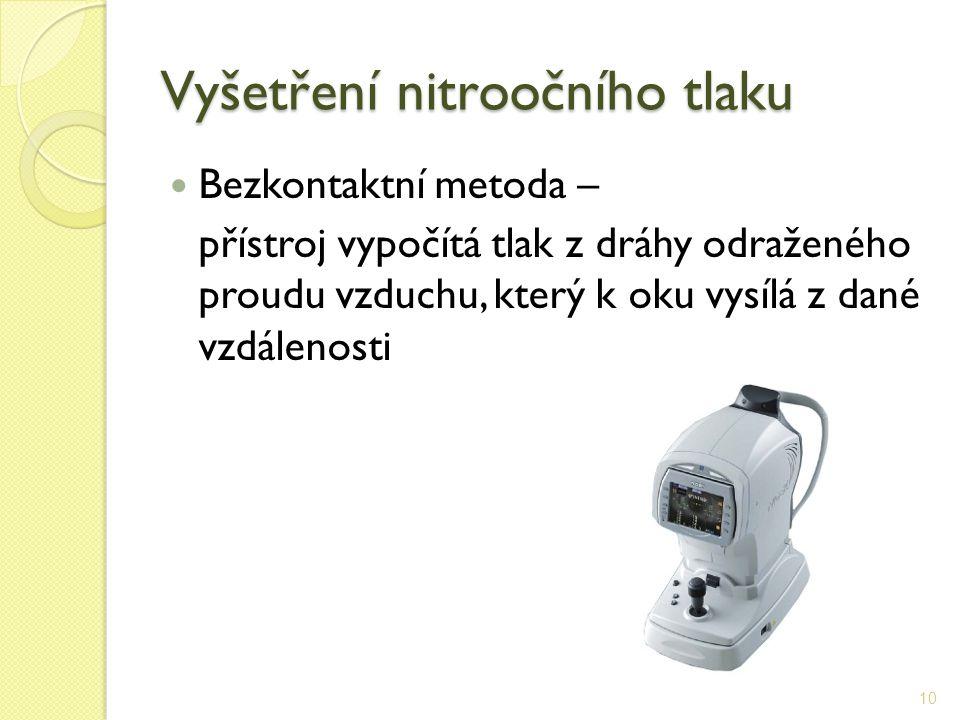 Vyšetření nitroočního tlaku
