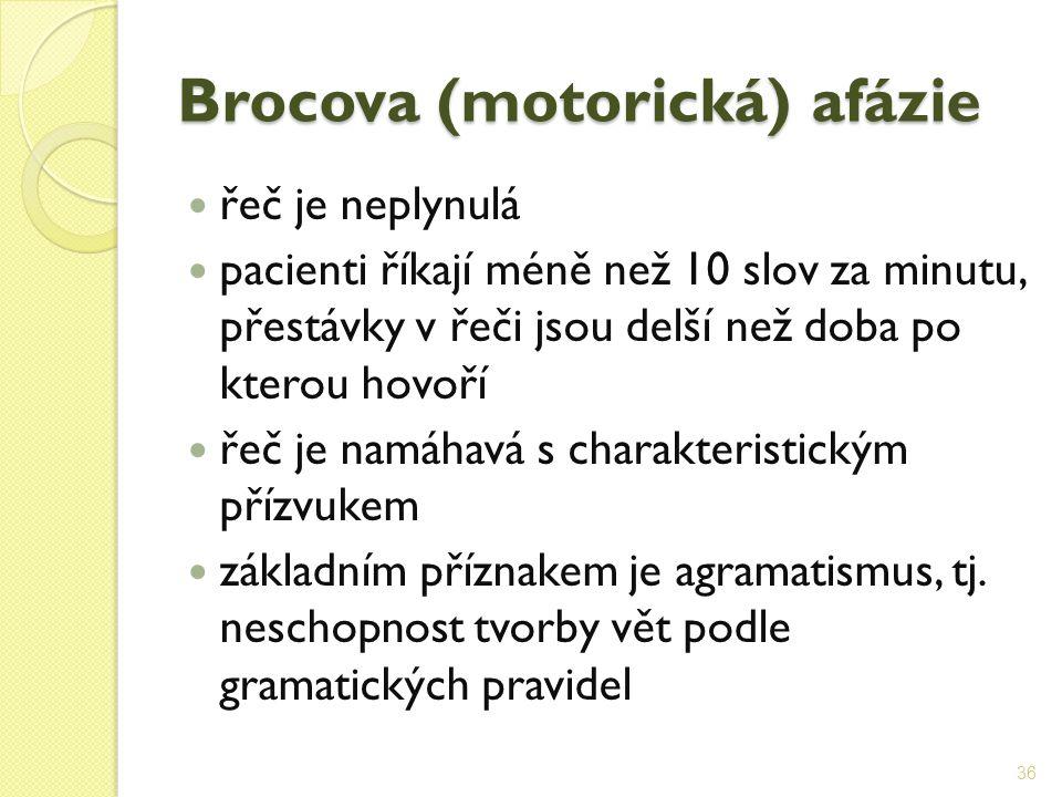 Brocova (motorická) afázie