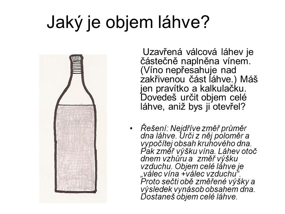 Jaký je objem láhve