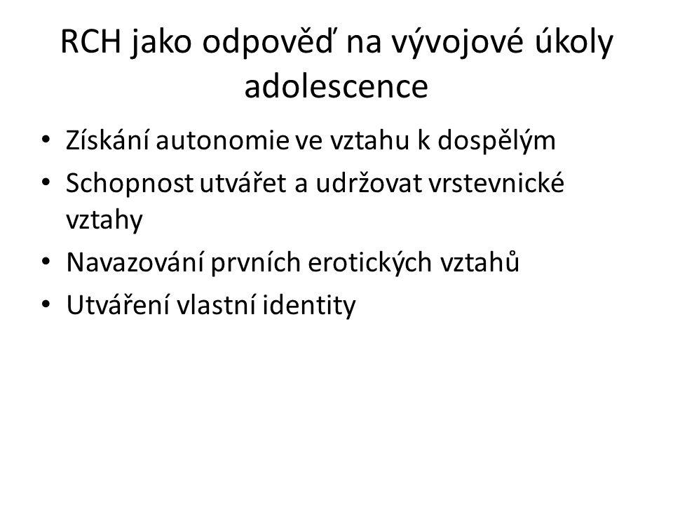 RCH jako odpověď na vývojové úkoly adolescence