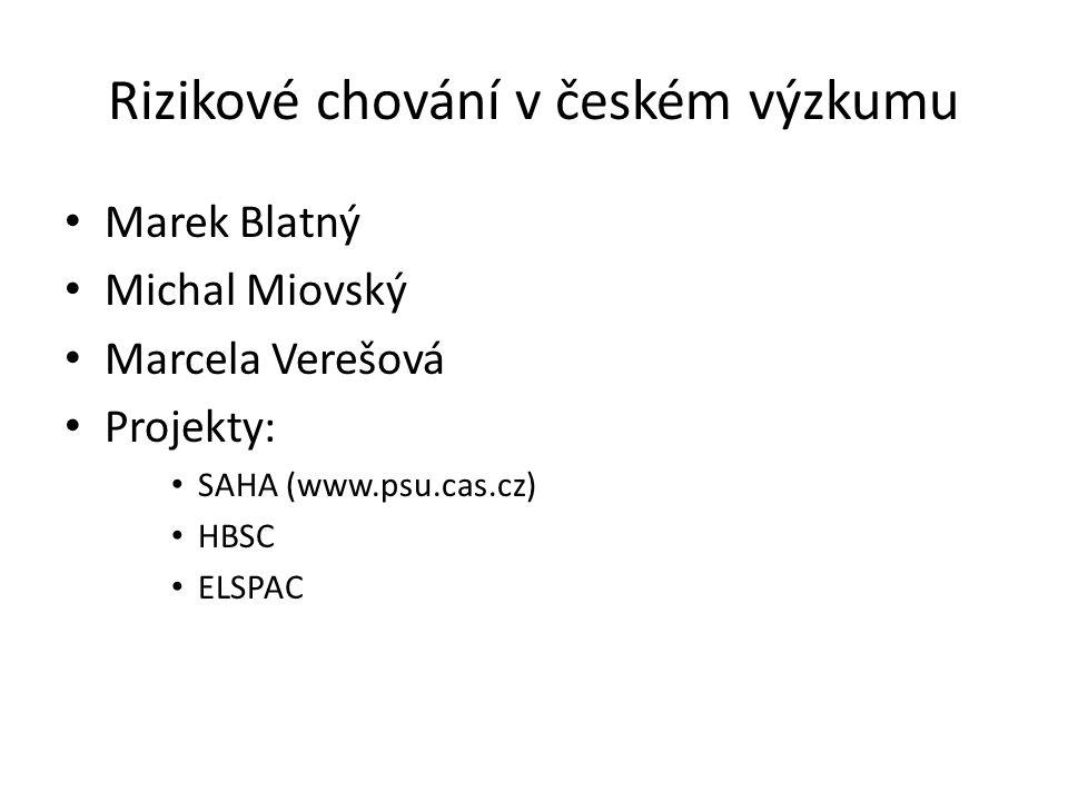 Rizikové chování v českém výzkumu