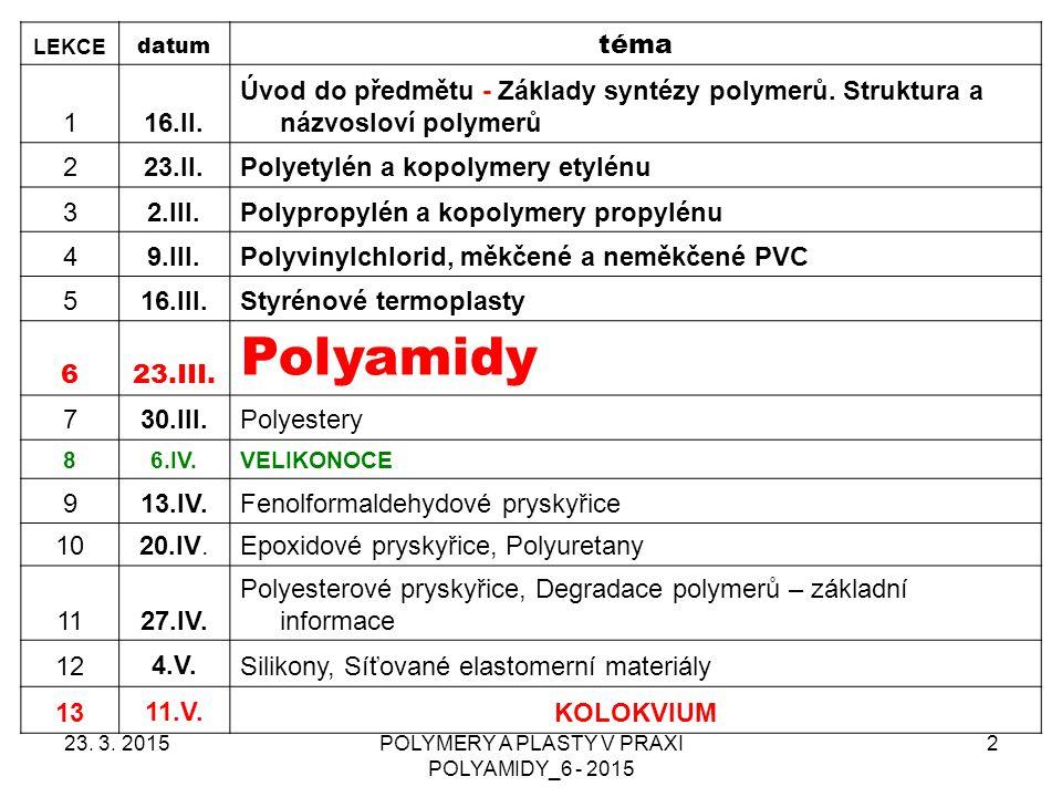 POLYMERY A PLASTY V PRAXI POLYAMIDY_6 - 2015