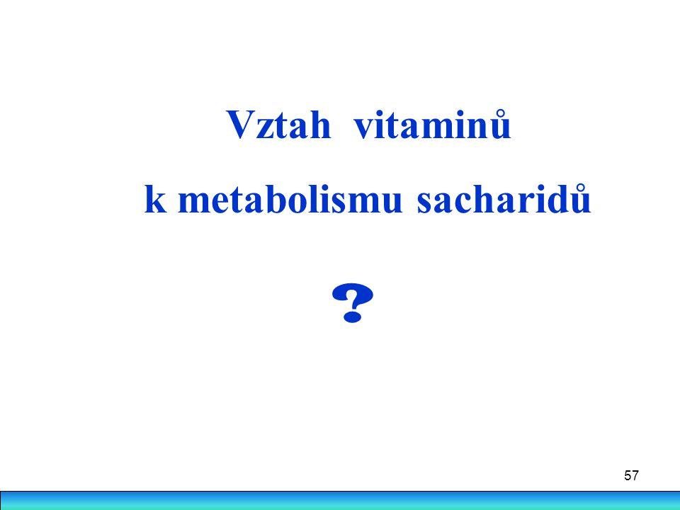 Vztah vitaminů k metabolismu sacharidů