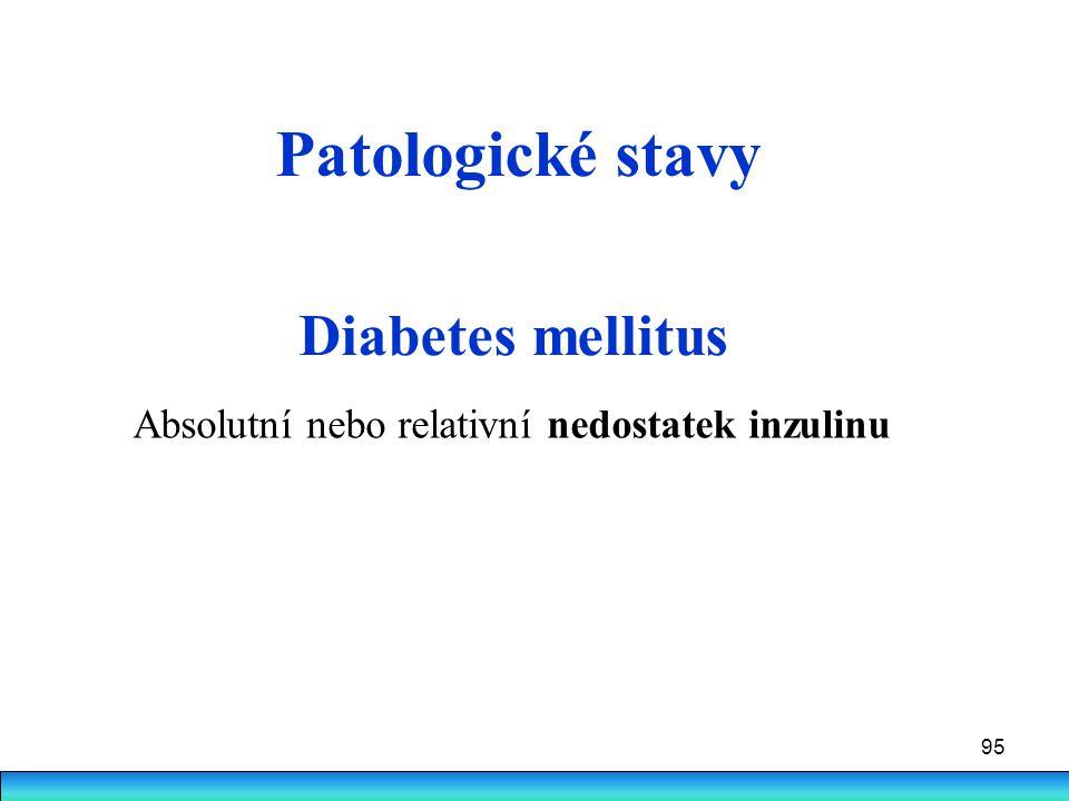Patologické stavy Diabetes mellitus