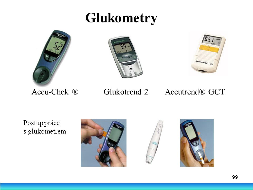 Glukometry Accu-Chek ® Glukotrend 2 Accutrend® GCT Postup práce