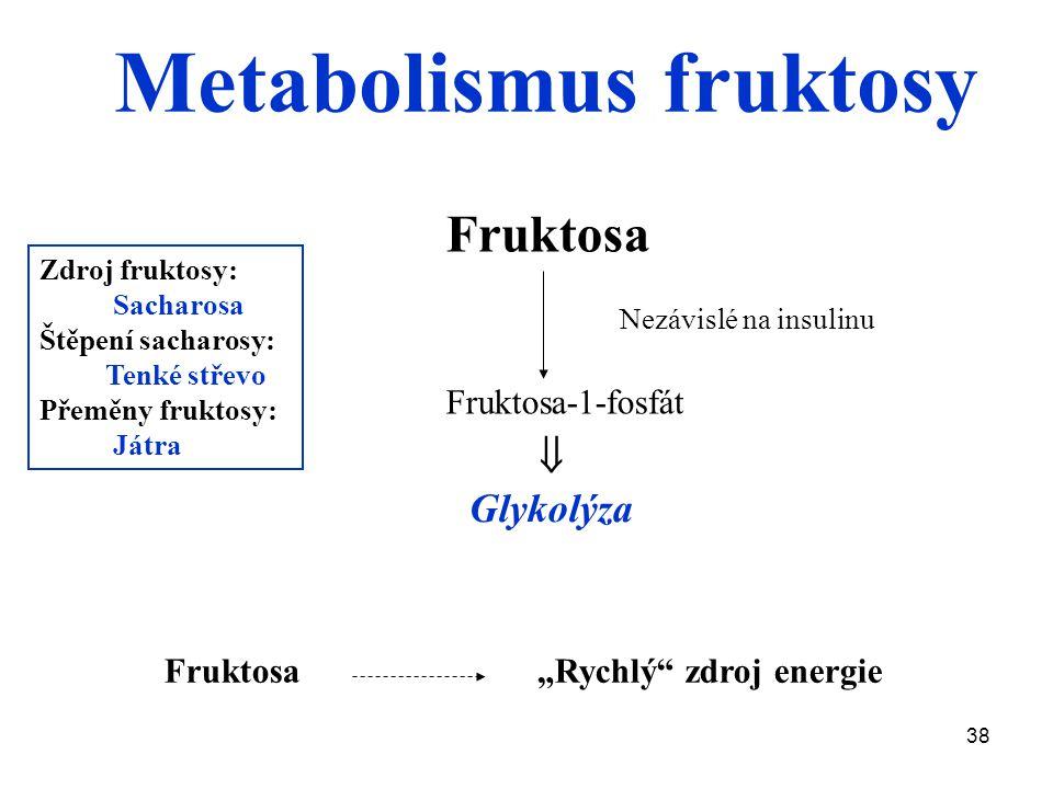Metabolismus fruktosy