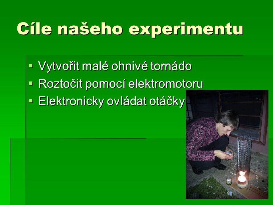 Cíle našeho experimentu