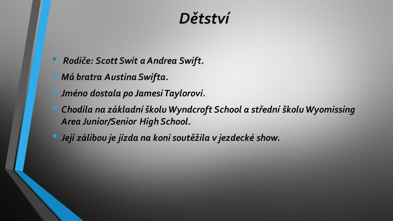 Dětství Rodiče: Scott Swit a Andrea Swift. Má bratra Austina Swifta.