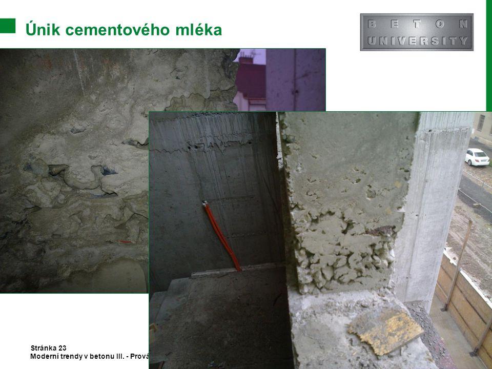 Únik cementového mléka