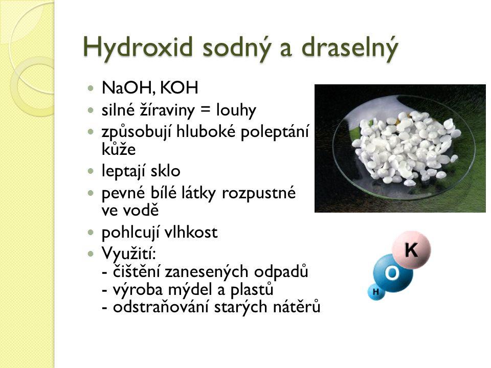 Hydroxid sodný a draselný