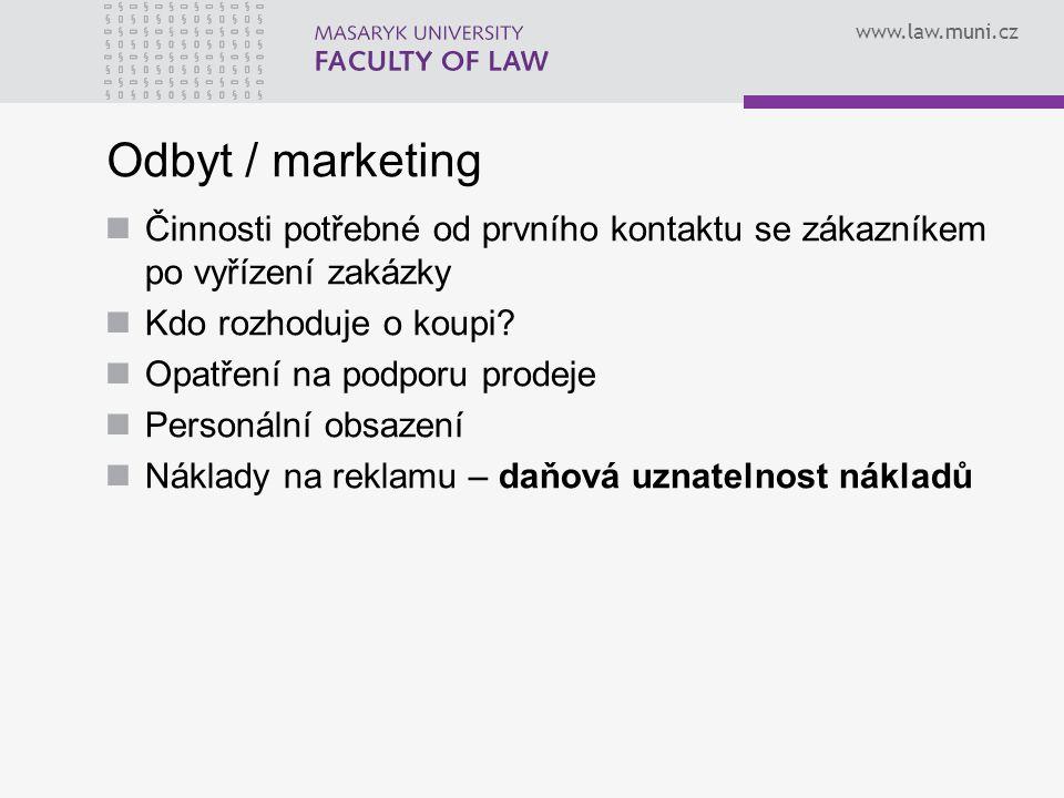 Odbyt / marketing Činnosti potřebné od prvního kontaktu se zákazníkem po vyřízení zakázky. Kdo rozhoduje o koupi