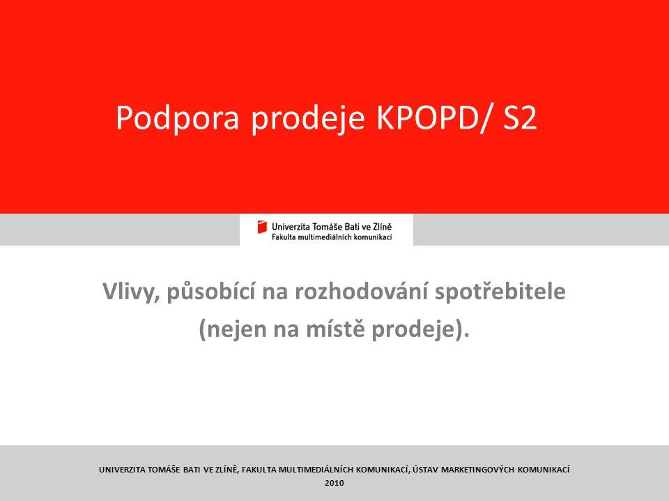 Podpora prodeje KPOPD/ S2