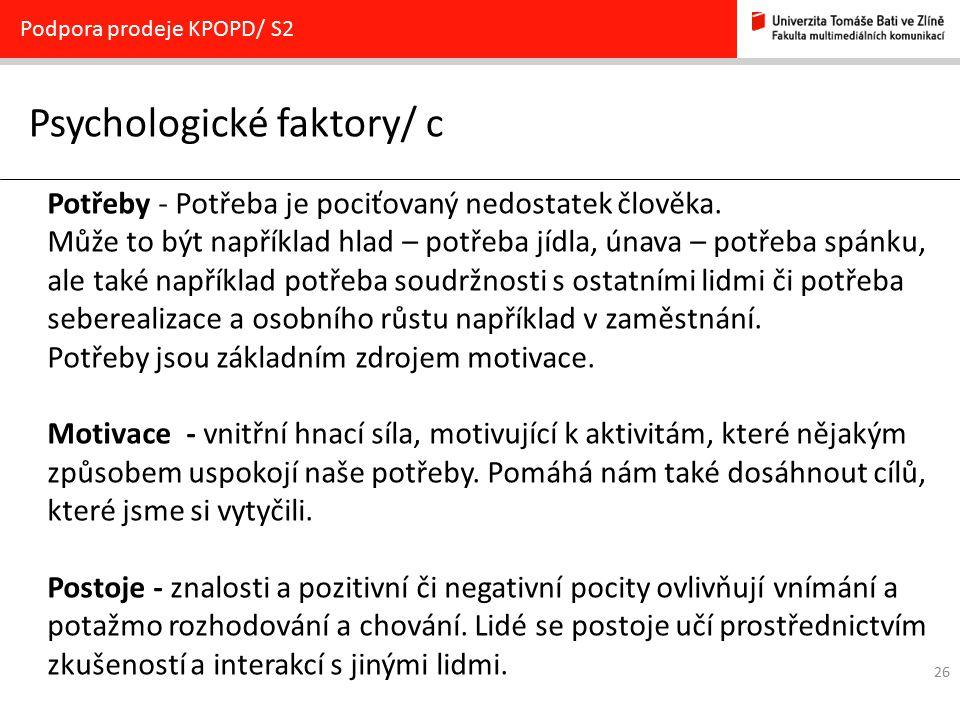 Psychologické faktory/ c