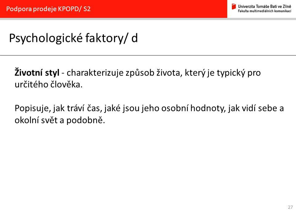 Psychologické faktory/ d