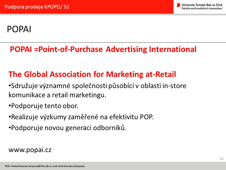 POPAI The Global Association for Marketing at-Retail