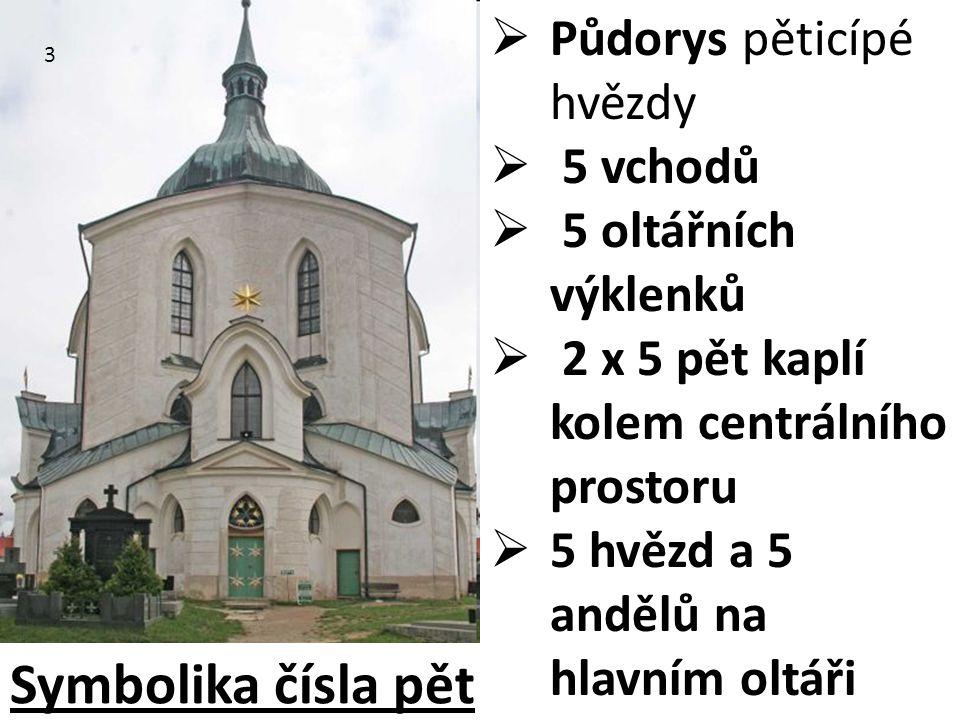 Symbolika čísla pět Půdorys pěticípé hvězdy 5 vchodů