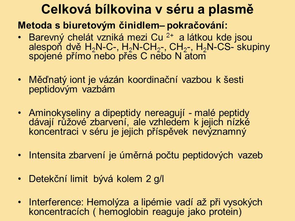 Celková bílkovina v séru a plasmě
