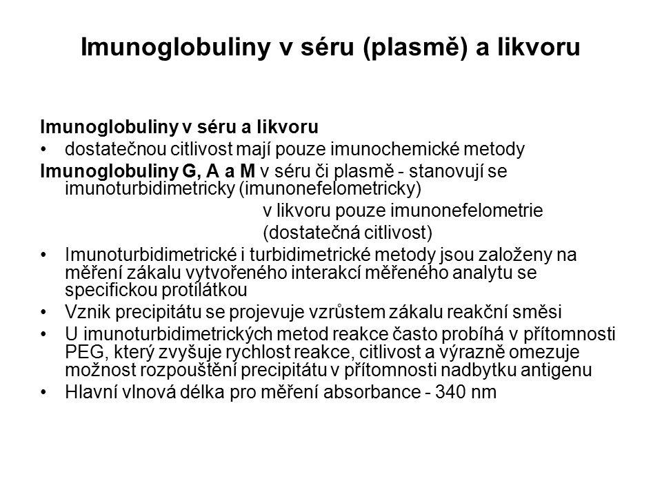 Imunoglobuliny v séru (plasmě) a likvoru