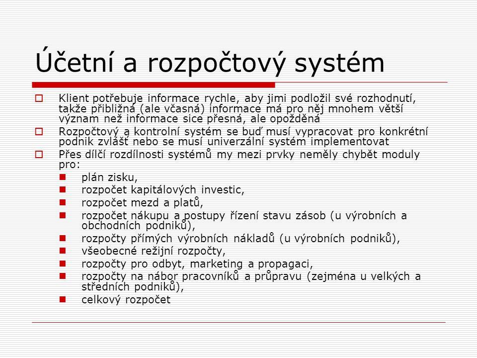 Účetní a rozpočtový systém
