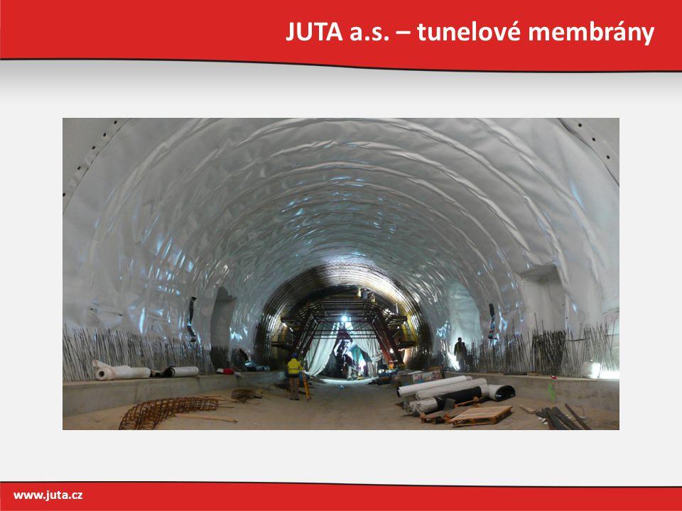 JUTA a.s. – tunelové membrány