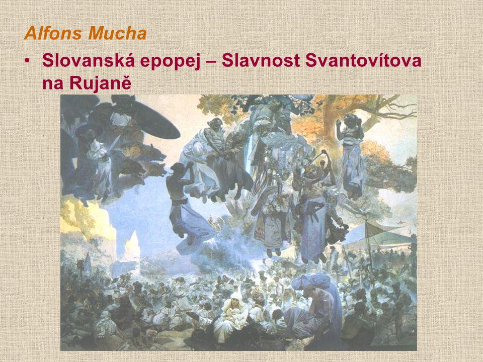 Alfons Mucha Slovanská epopej – Slavnost Svantovítova na Rujaně