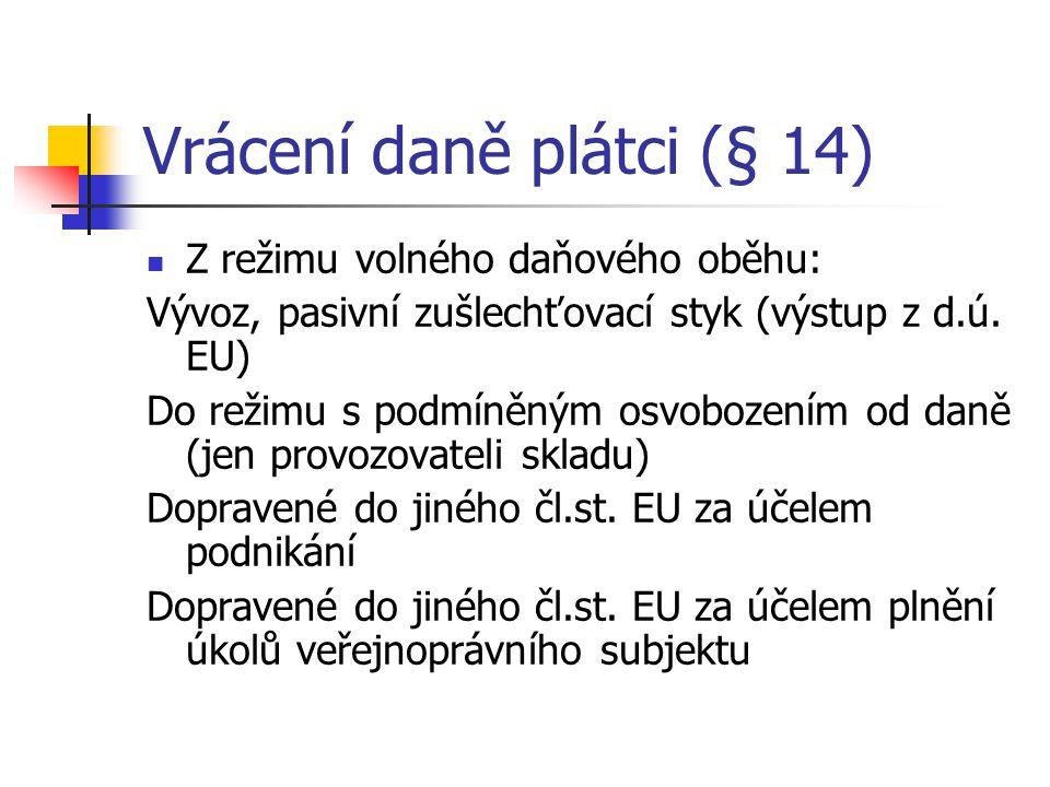 Vrácení daně plátci (§ 14)