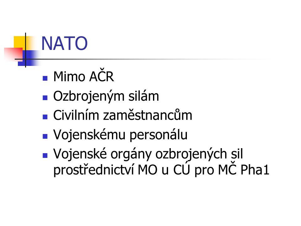 NATO Mimo AČR Ozbrojeným silám Civilním zaměstnancům