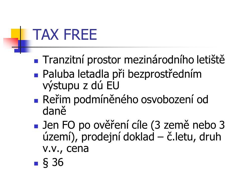 TAX FREE Tranzitní prostor mezinárodního letiště