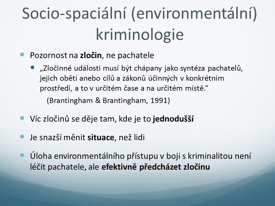 Socio-spaciální (environmentální) kriminologie