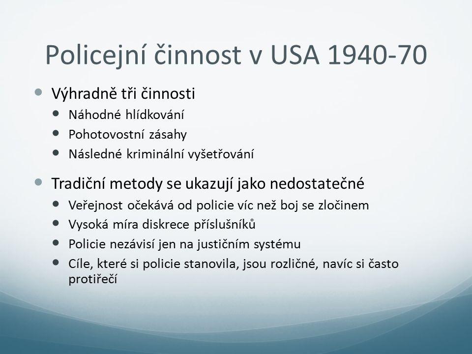 Policejní činnost v USA 1940-70