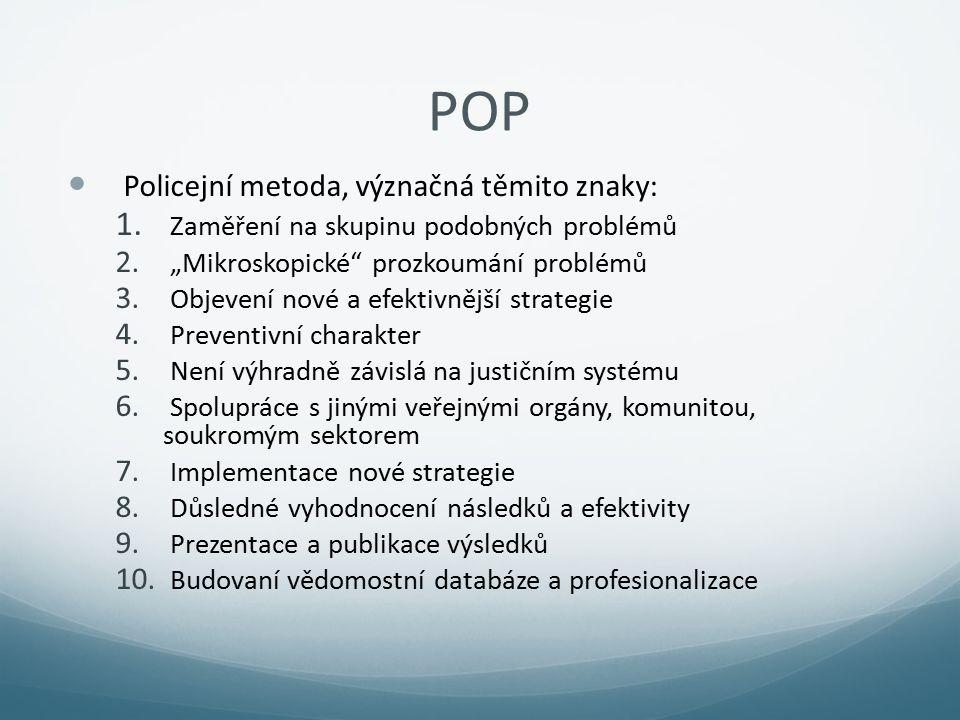 POP Policejní metoda, význačná těmito znaky: