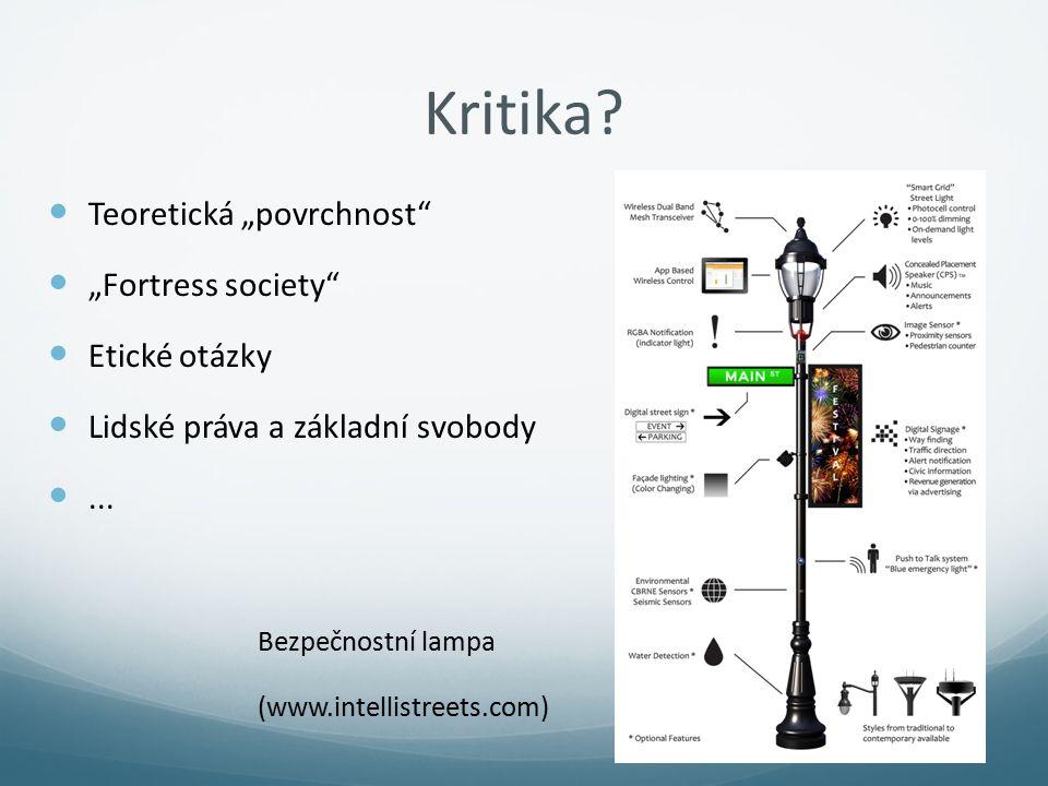 """Kritika Teoretická """"povrchnost """"Fortress society Etické otázky"""