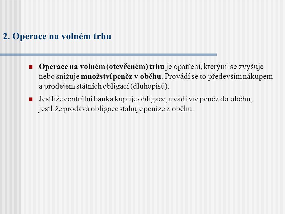 2. Operace na volném trhu
