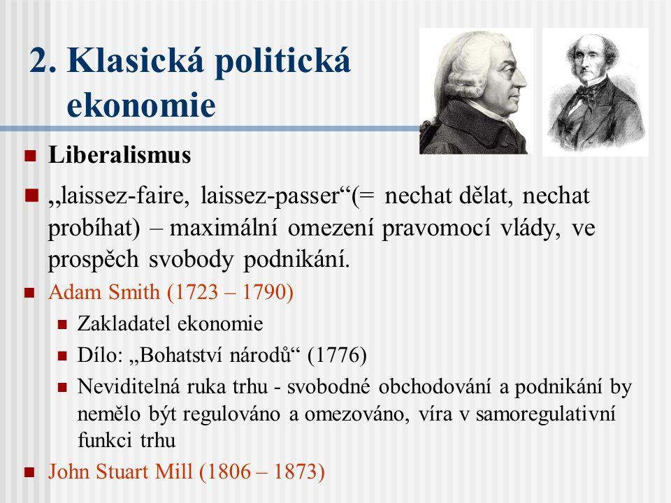 2. Klasická politická ekonomie
