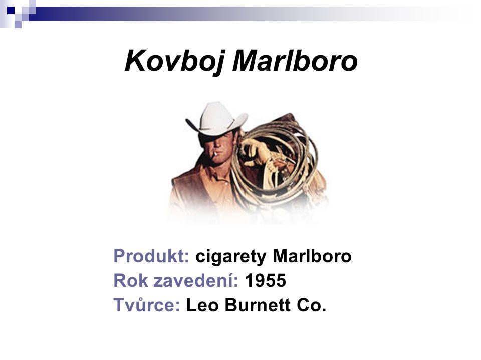 Kovboj Marlboro Produkt: cigarety Marlboro Rok zavedení: 1955