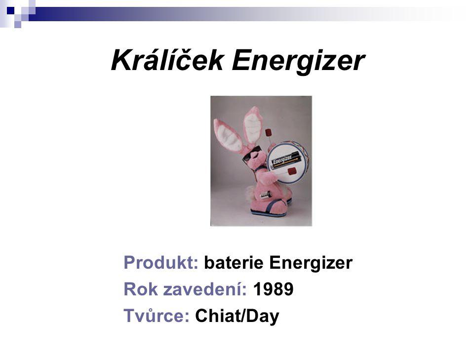 Králíček Energizer Produkt: baterie Energizer Rok zavedení: 1989