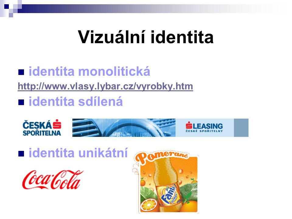 Vizuální identita identita monolitická identita sdílená