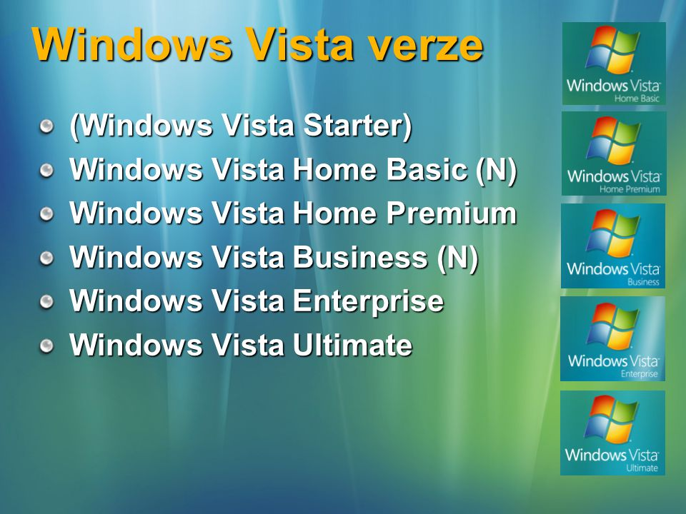 Windows Vista verze (Windows Vista Starter)