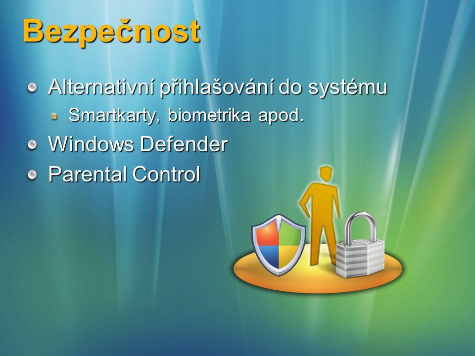 Bezpečnost Alternativní přihlašování do systému Windows Defender