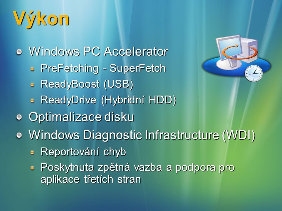 Výkon Windows PC Accelerator Optimalizace disku